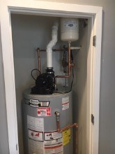 220. AO Smith Water Heater Installed in Closet