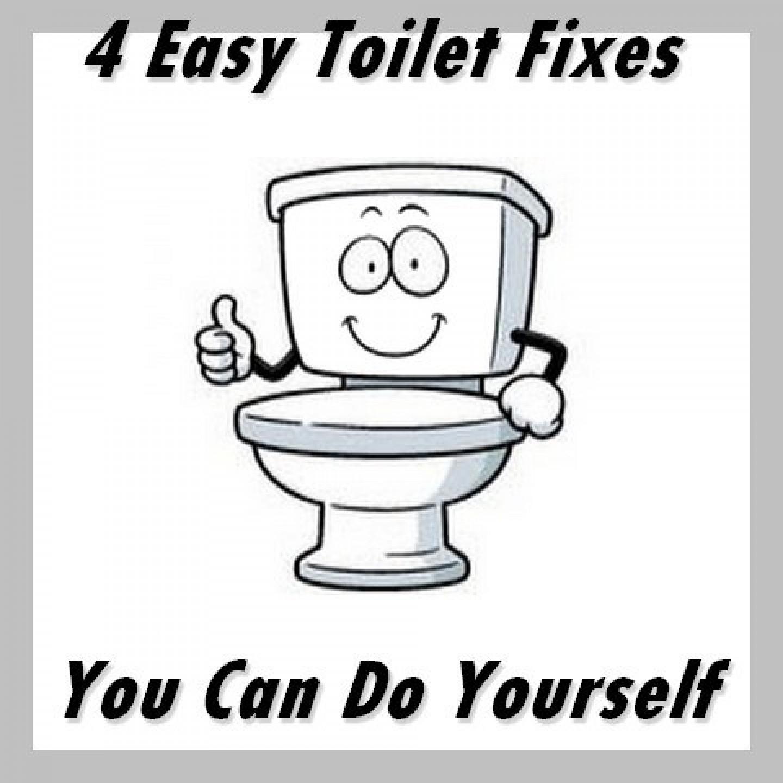 4 easy toilet repairs